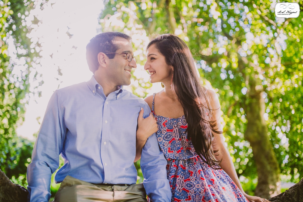Rucha Vinay Engagement Session Rockwood Hall
